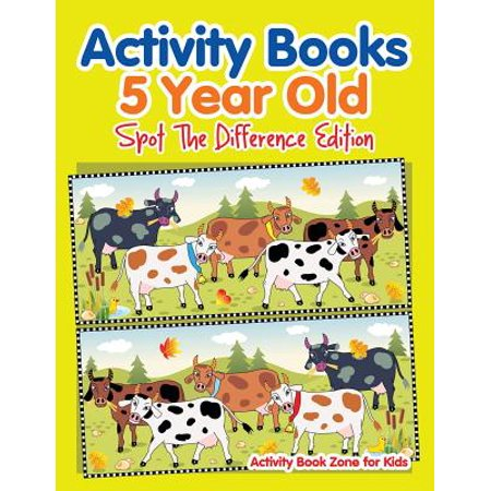 Activity Books 5 Year Old Spot the Difference Edition for $<!---->