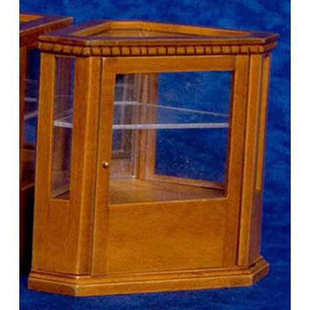 Dollhouse Corner Display Cabinet, Walnut ()