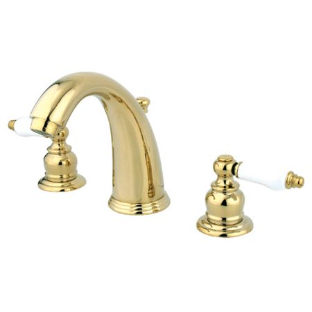 Kingston Brass English Country Widespread Bathroom Faucet with Drain Assembly