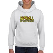 Hoodie Softball Play Hard or Go Home Softball Field Gift Match with Cleats Mask Socks Youth Hoodies