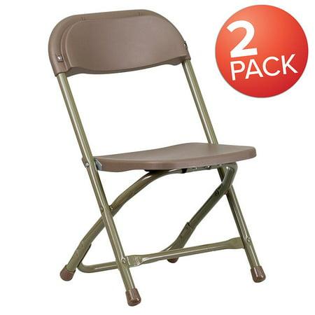 Superb Flash Furniture 2 Pk Kids Brown Plastic Folding Chair Machost Co Dining Chair Design Ideas Machostcouk