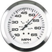 "Sierra Lido Series 3"" White & Stainless Steel Pitot Type Speedometer Gauge Kit"