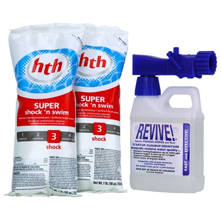 Revive Swimming Pool Start Up Opening Chemical Kit For Pools Up To 12 000 Gallon