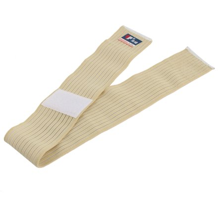 Beige Ankle Strap (Unisex Outdoor Sports Elastic Fiber Stripe Pattern Ankle Support Strap)