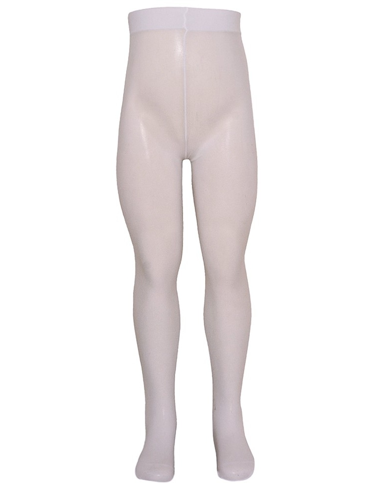 Golden Legs Little Girls White Stretchy Soft Basic Footed Tights 4-6
