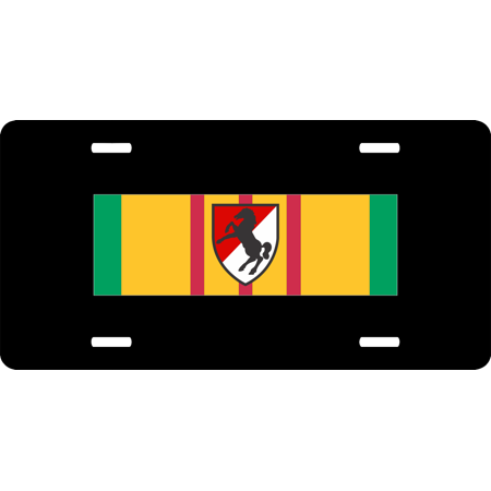 Vietnam Ribbon with 11th Armored Cavalry License Plate