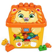 Mega Bloks First Builders Laughing Lion with Big Building Blocks, Building Toys for Toddlers (25 Pieces)