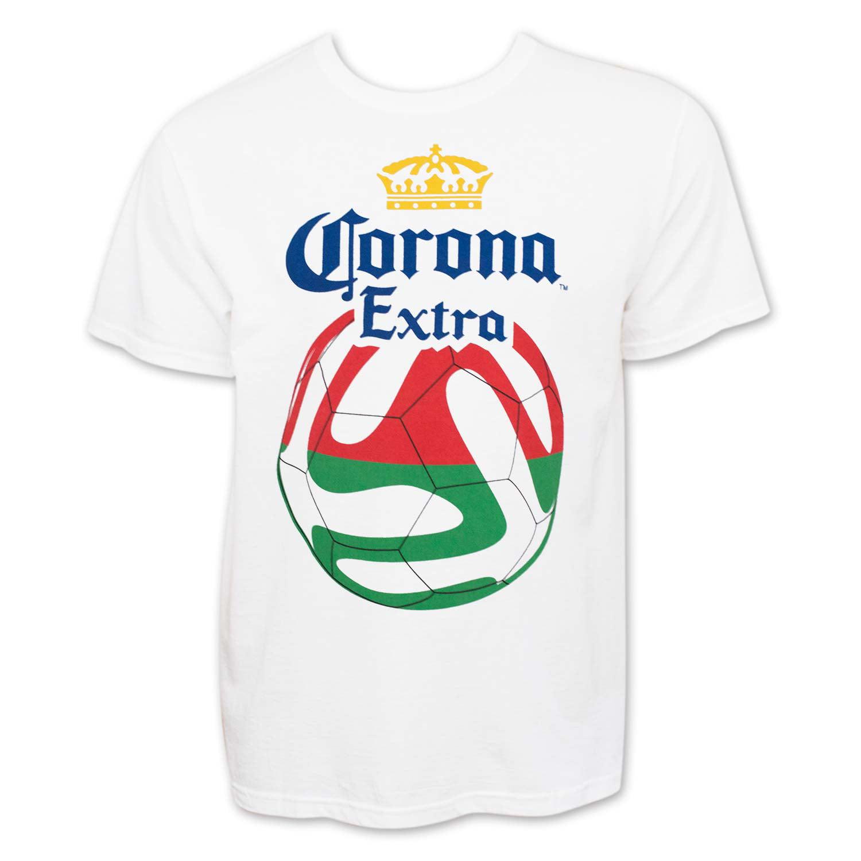 Corona Extra Soccer Ball Logo Tshirt White