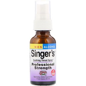 Herbs Etc., Singer's, Soothing Throat Spray, Non Alcohol, 1 fl oz (30 ml) (Pack of