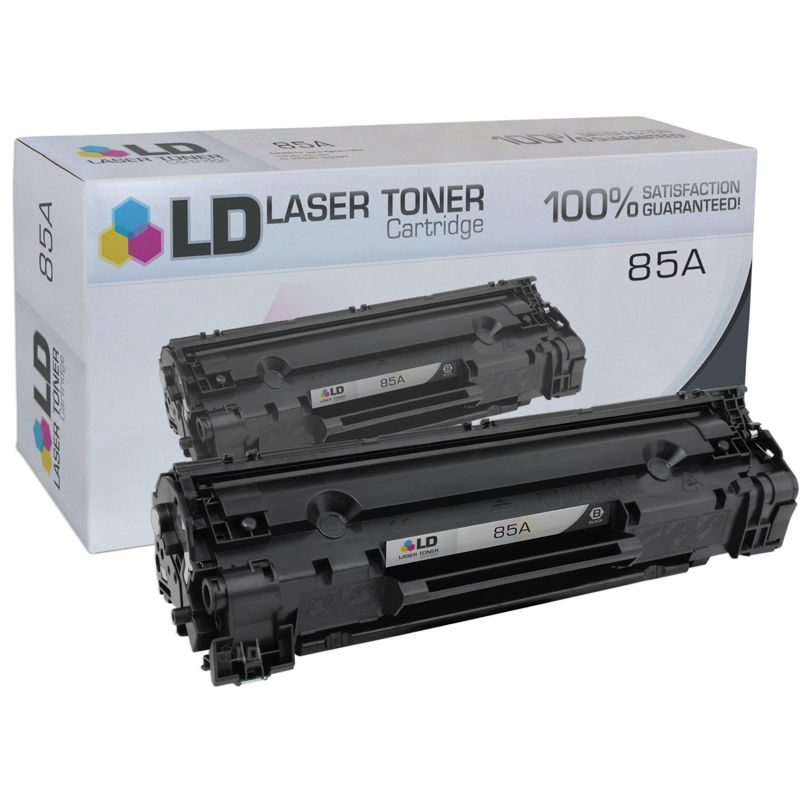 LD Compatible Replacement for Hewlett Packard CE285A (HP 85A) Black Laser Toner Cartridge for use in HP LaserJet Pro