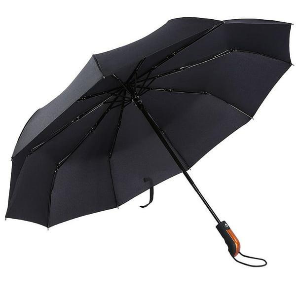 8 Ribs Finest Windproof Eyeball Umbrella with Teflon Coating Auto Open Close and Upgraded Comfort Handle Travel Umbrella