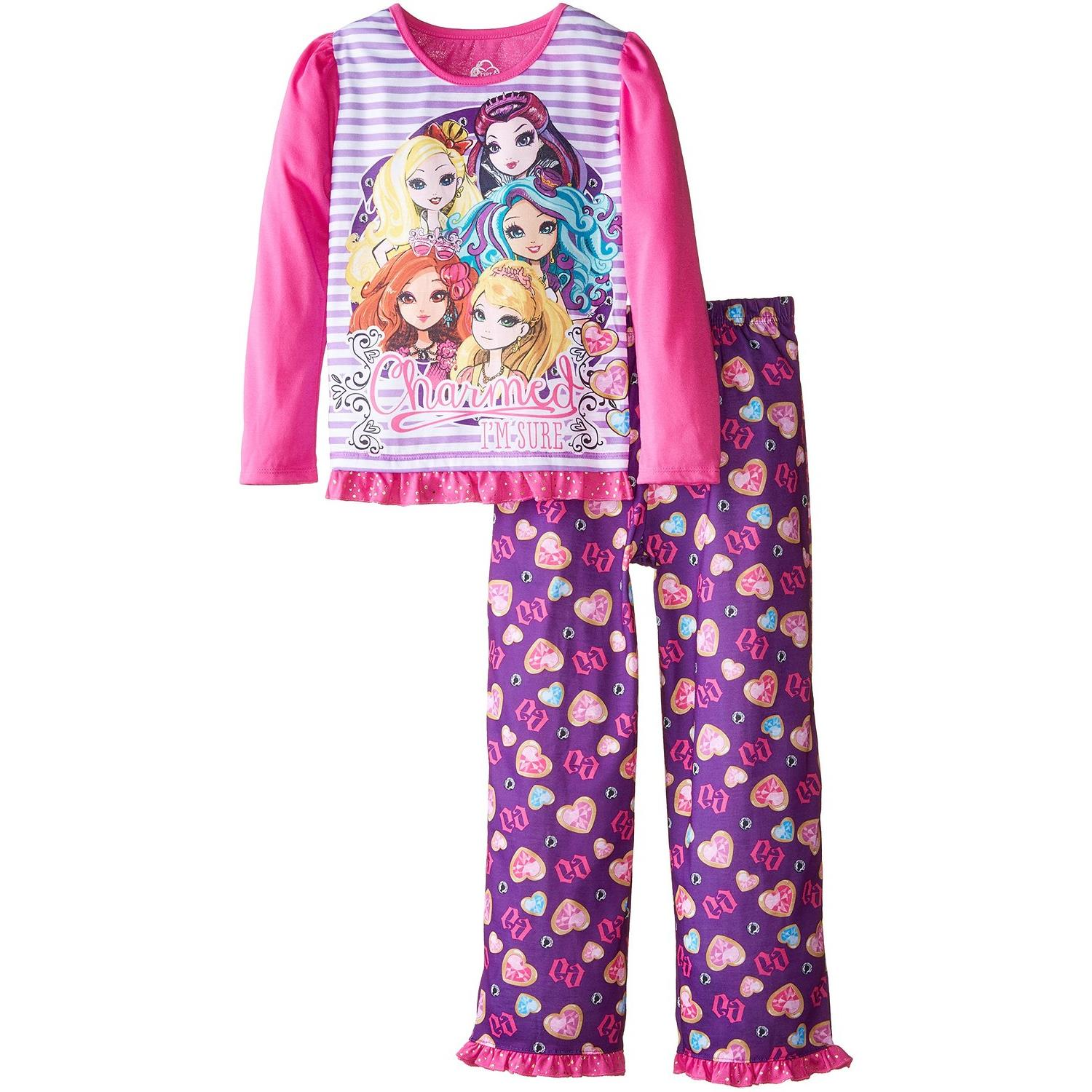 "Ever After High ""Charmed"" Big Girls Pajama Set Sizes 6/6x-14/16"