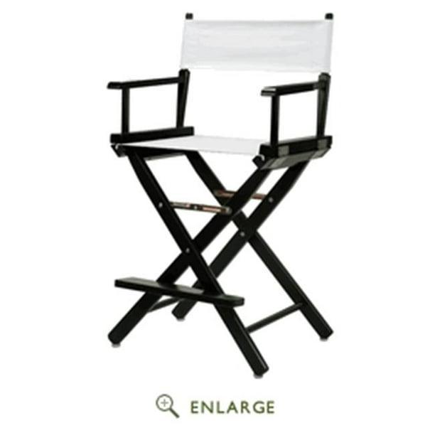24 Directors Chair Black Frame-White Canvas