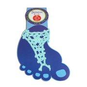 Size Large Girls Summer Crochet Barefoot Sandal, Aqua