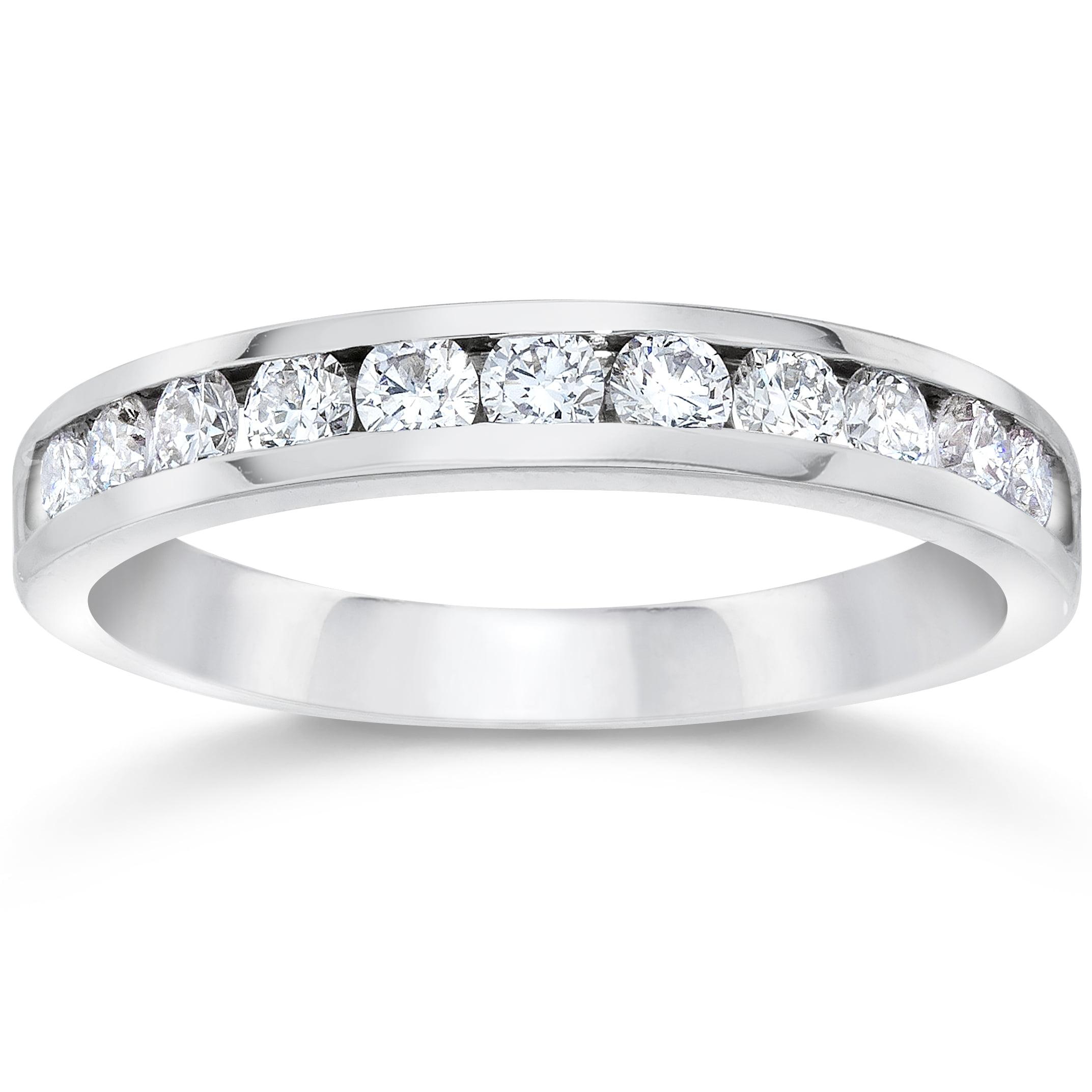950 Platinum Channel Set Diamond 1 2ct Wedding Ring by Pompeii3