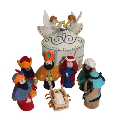 Magical Felt Nativity Set - White - Silk Road Bazaar (Nativity Felt)