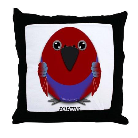 "CafePress - Female Eclectus Parrot - Decor Throw Pillow (18""x18"")"