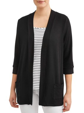 fb79e0b530c Product Image Women s Rib Trim Open Front Cardigan