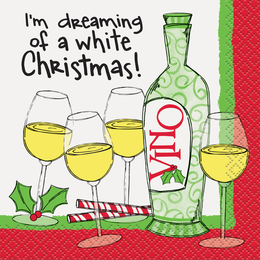 I'm Dreaming of a White Christmas Cocktail Napkins, Pack of 16