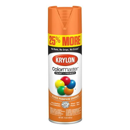 Krylon® ColorMaster Paint + Primer Gloss Pumpkin Orange, 15-Oz ()