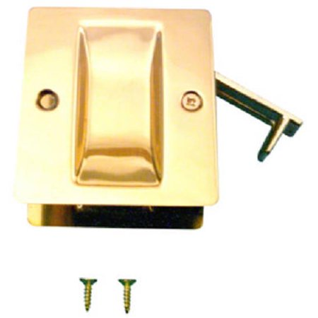 Slide-Co 161494 Pocket Door Passage Pull, Polished Brass - Passage Door Pull Polished Brass