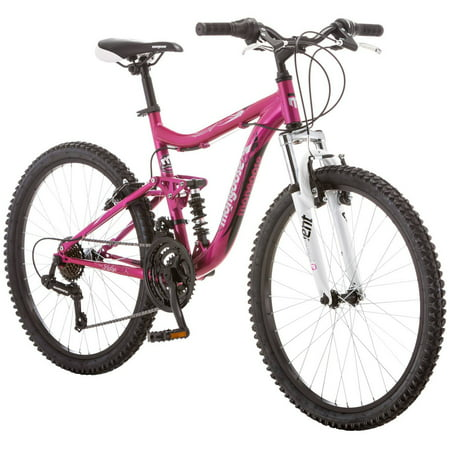 "24"" Mongoose Ledge 2.1 Girls' Mountain Bike, Pink"