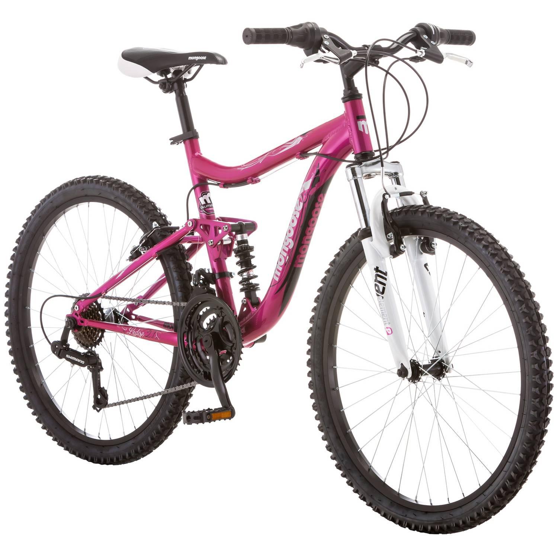 """24"""" Mongoose Ledge 2.1 Girls' Mountain Bike, Pink"""