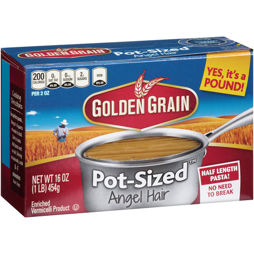 Golden Grain Pot-SizedAngel Hair Pasta, 16 oz