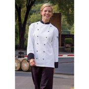 0448C-4506 Rialto Chef Coat in White/Black - 2XLarge
