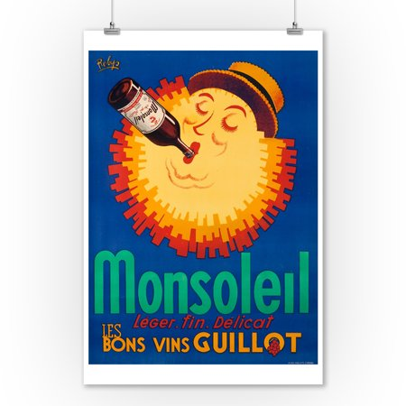 Monsoleil Vintage Poster (artist: Robys) France (9x12 Art Print, Wall Decor Travel -