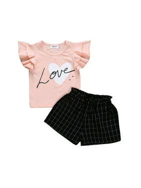 ffdb3881 Product Image 2PCS Baby Kids Girls Summer Outfits Toddler Top Shirt Pants  Shorts Clothes Set