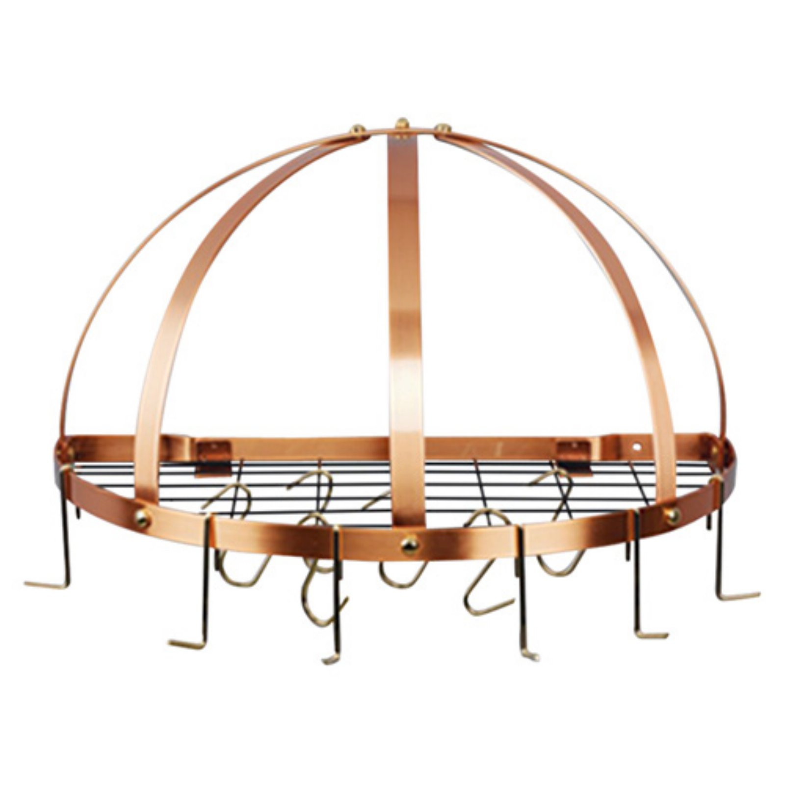 Half-Round Pot Rack with Grid