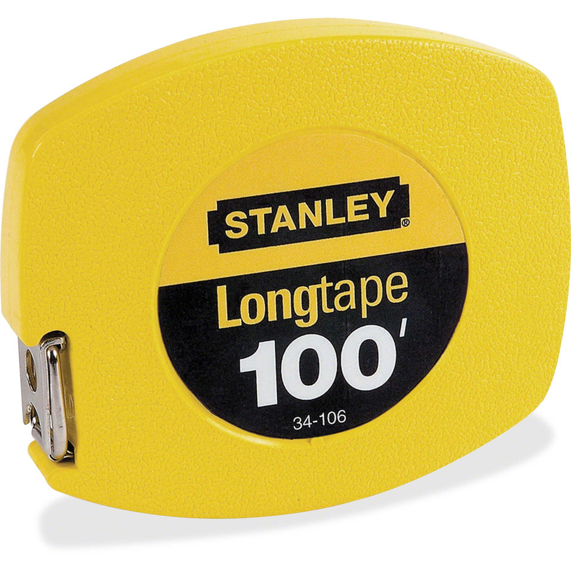 "Stanley Long Tape Measure, 1/8"" Graduations, 100ft, Yellow"
