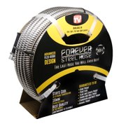 Forever Steel Garden Hose (As Seen On TV) Lightweight Kink-Free and Stronger Than Ever - 50 Ft