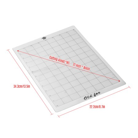OLD FOX Replacement Cutting Mat Transparent Adhesive Mat with Measuring Grid 8 by 12-Inch for Silhouette Cameo Cricut Explore Plotter Machine, 1pcs - image 5 de 7