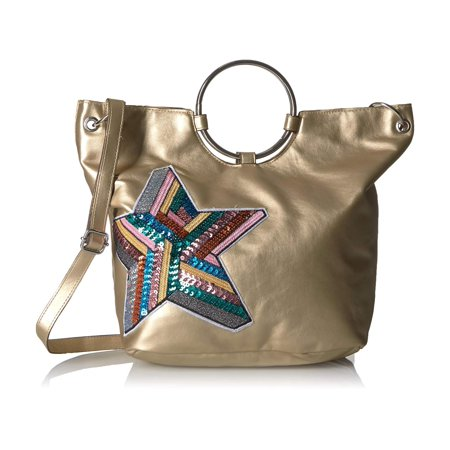 T-Shirt & Jeans Ring Tote With Sequin Star, Gold, Size One (Ring Bearer Tote)