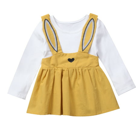 Cute Infant Toddler Baby Girls Long Sleeve Rabbit Easter Dress Outfits](Cute Baby Girl Stuff)