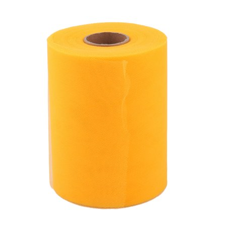 Party Gift Wrap DIY Dress Craft Decor Tulle Spool Roll Yellow 6 Inch x 100 Yards