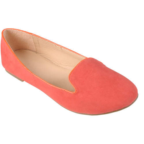 Brinley Co Women's Round Toe Sueded Ballet Flats