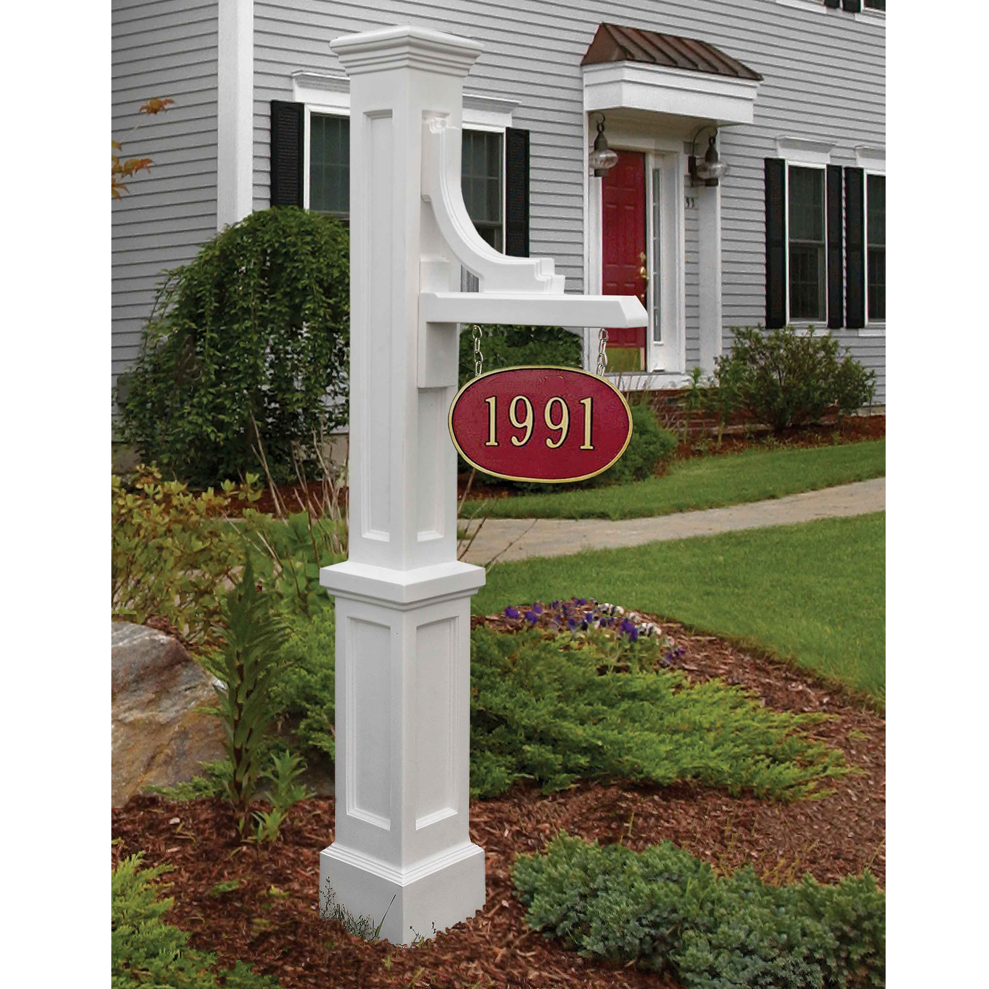 Woodhaven Address Sign Post Black by Mayne Inc