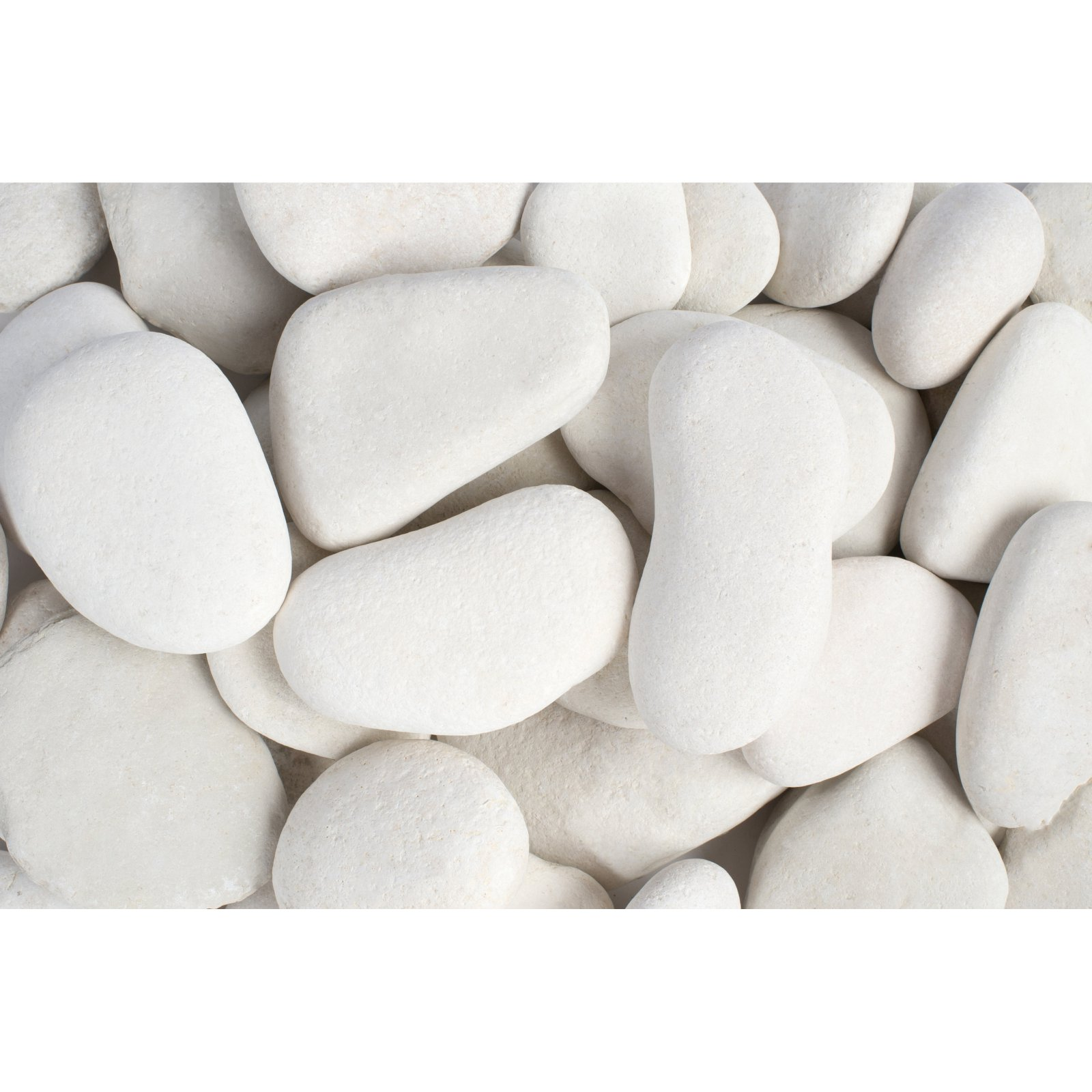 "Margo 30 lb Large Flat Caribbean Beach Pebbles, 3"" to 5"""