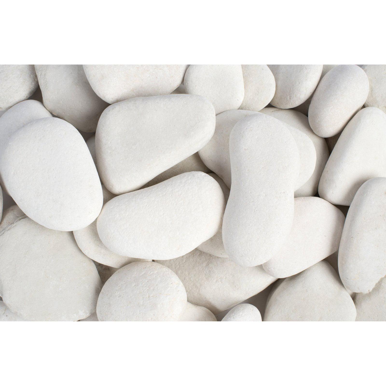 "Margo 30 lb Large Flat Caribbean Beach Pebbles, 3"" to 5"