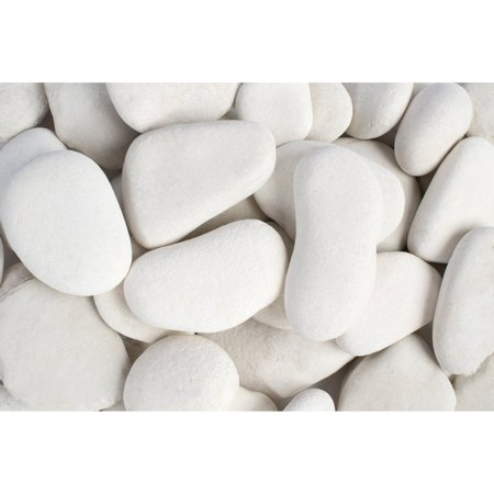 - Margo 30 lb Large Flat Caribbean Beach Pebbles, 3