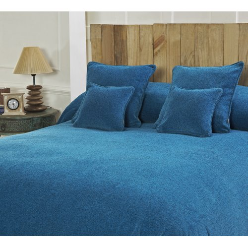 Unbranded Maspar Melange Chenille Bed Coverlet