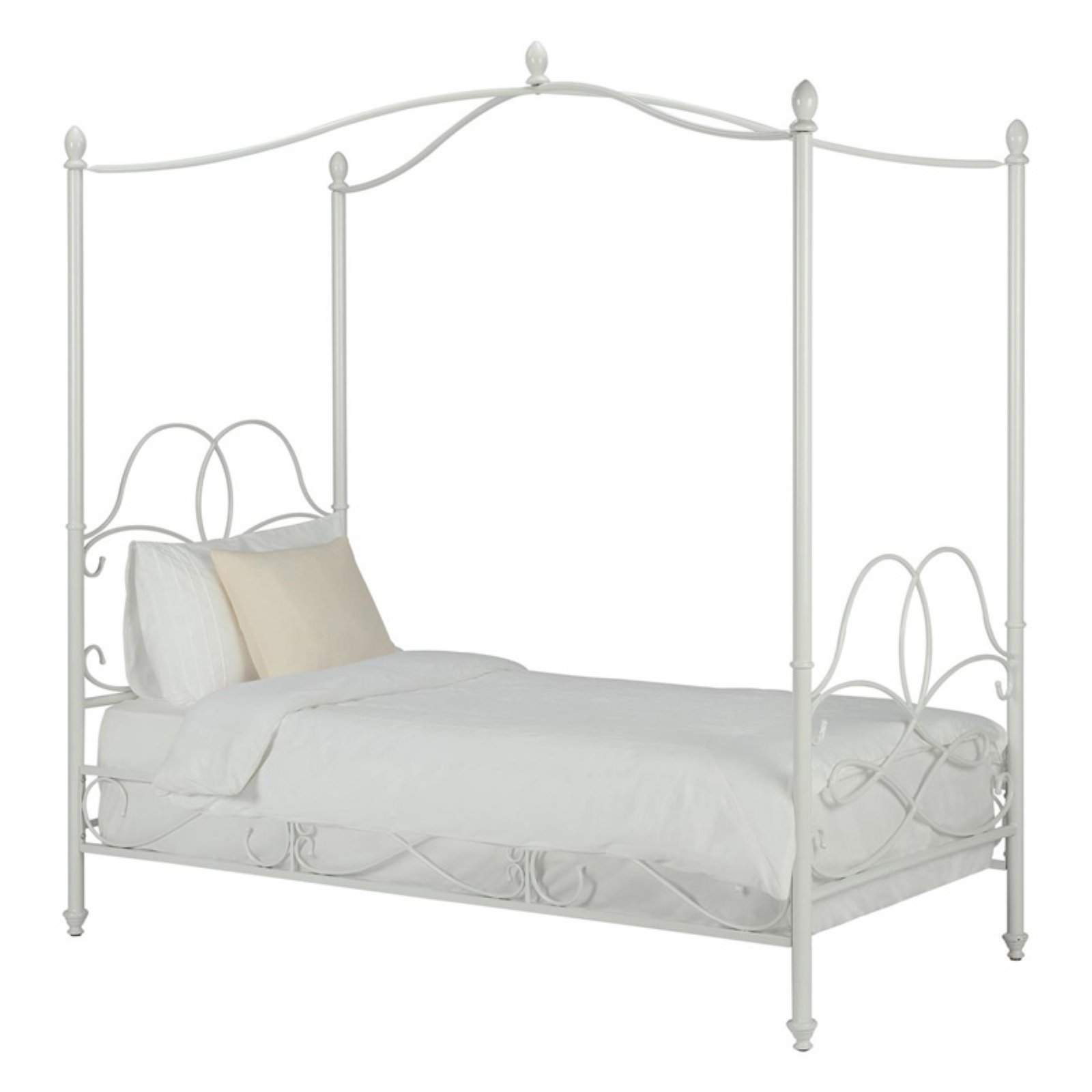 DHP Fancy Metal Canopy Bed, Twin, Multiple Colors Available