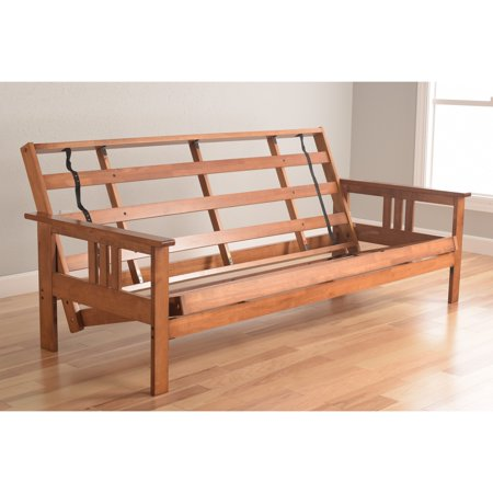Somette Beli Mont Multi-flex Honey Oak Full-size Wood Futon Frame ...