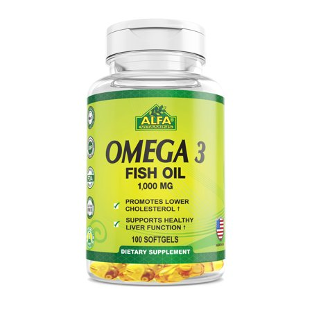 Image of Alfa Natural Omega-3 Fish Oil Softgels, 1000 Mg, 100 Ct