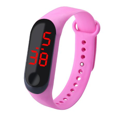 Bracelet Watch Band Digital Watch Red LED Watches Promotion Gift WristWatch - image 1 de 6