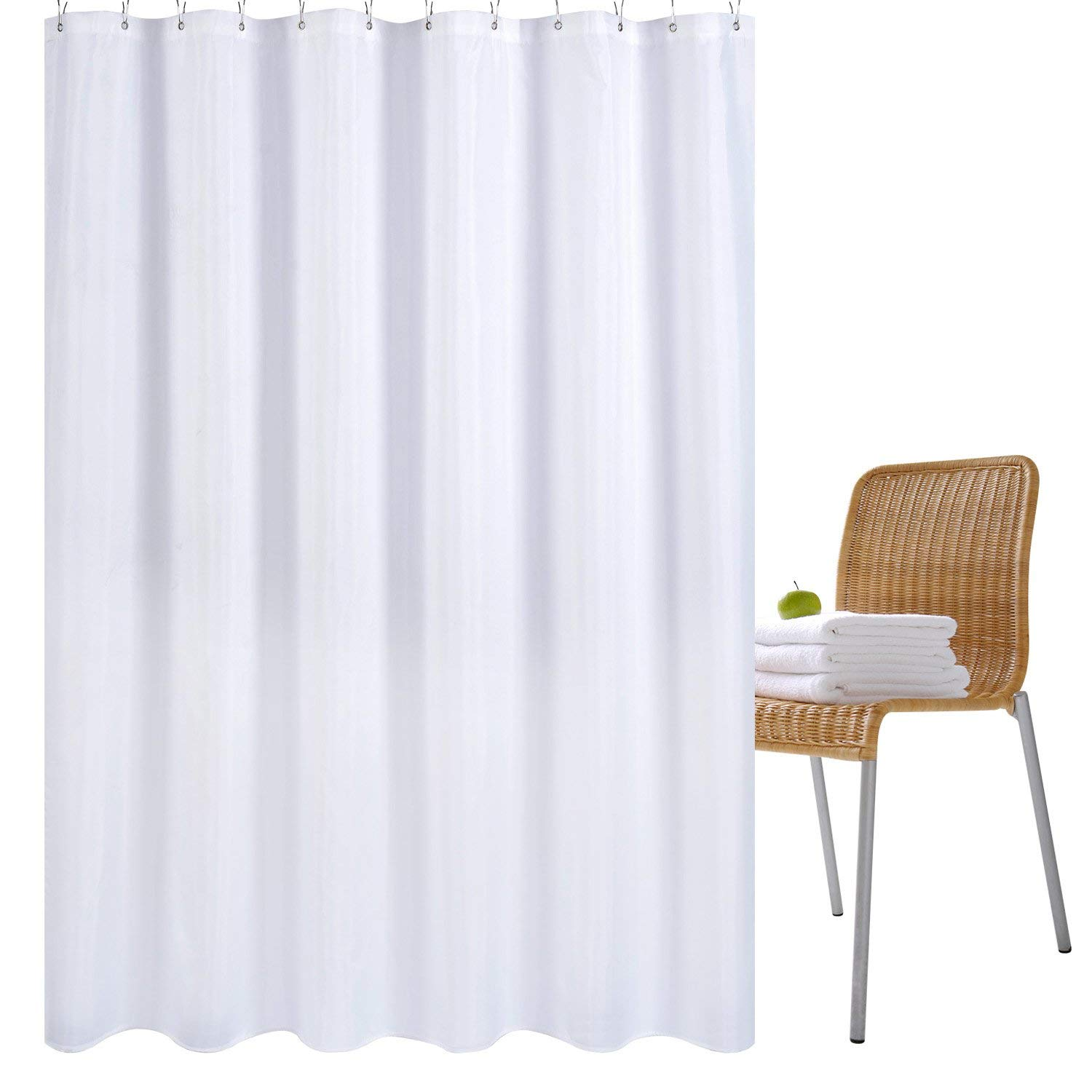 Exceptionnel Wimaha Water Repellent Fabric Shower Curtain Liner Mildew Resistant Machine  Washable Bathroom Shower Curtains
