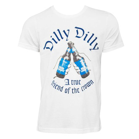 a07551bc99 Bud Light - Bud Light Dilly Dilly Friend Of The Crown White Tee Shirt -  Walmart.com